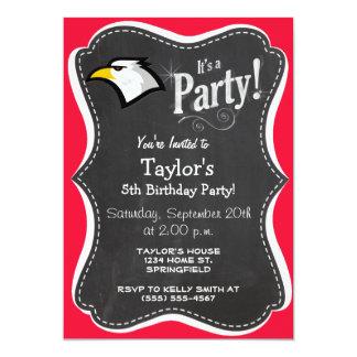 Scarlet Red; Bald Eagle 5x7 Paper Invitation Card