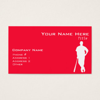 Scarlet Red Baseball; Softball Business Card