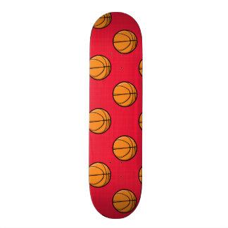 Scarlet Red Basketball Pattern Skateboard