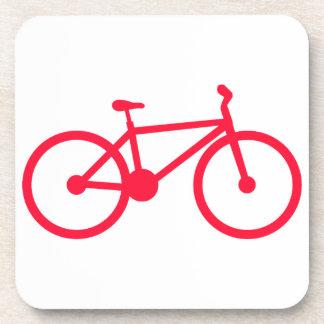 Scarlet Red Bicycle Coaster