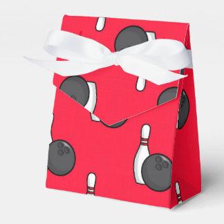 Scarlet Red Bowling Pattern Favour Box