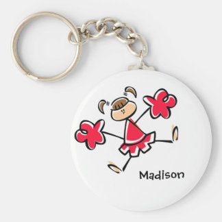 Scarlet Red Cheerleader Key Ring