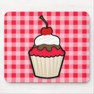 Scarlet Red Cupcake Mouse Pad