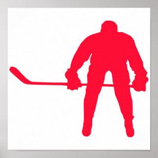 Scarlet Red Hockey Poster