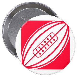 Scarlet Red Rugby Pins