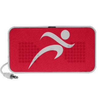 Scarlet Red Running Laptop Speaker
