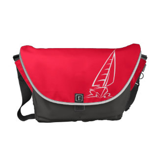 Scarlet Red Sailing; Sail Boat Commuter Bag