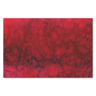 'Scarlet' Red Silk Abstract Tissue Paper