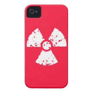 Scarlet Red Toxic radioactive symbol iPhone 4 Case