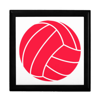 Scarlet Red Volleyball Jewelry Boxes
