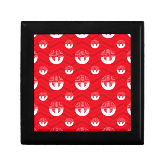 Scarlet Red White Chevron Sport Shooting Keepsake Boxes