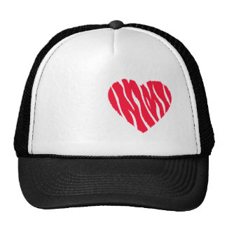 Scarlet Red Wild Heart Mesh Hats