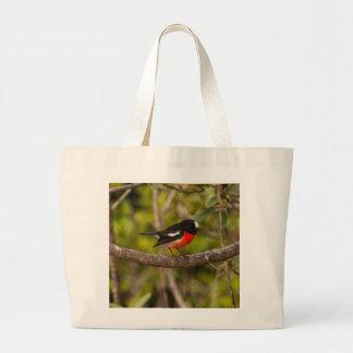 Scarlet Robin Jumbo Tote Bag