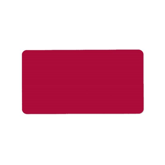 Scarlet Sage Red Burgundy Maroon Colour 2015 Trend Address Label