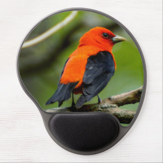 Scarlet Tanager Gel Mousepad Gel Mouse Mat