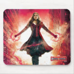 Scarlet Witch Unleashing Power In City Mouse Pad