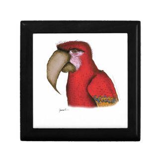 scarlett macaw, tony fernandes gift box