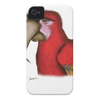 scarlett macaw, tony fernandes iPhone 4 case