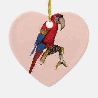 scarlett macaw, tony fernandes.tif christmas ornament