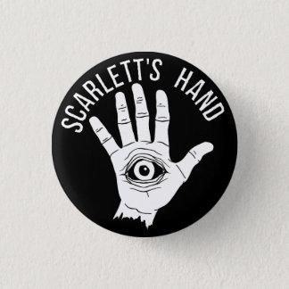 Scarlett's Hand Round Button Black