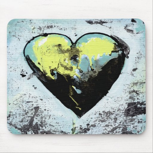 Scarred heart messy bold modern art healing mousepads