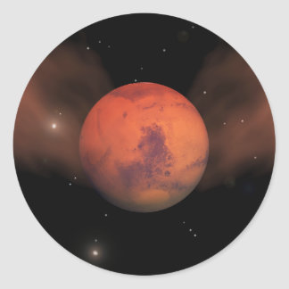 Scars of Mars Classic Round Sticker