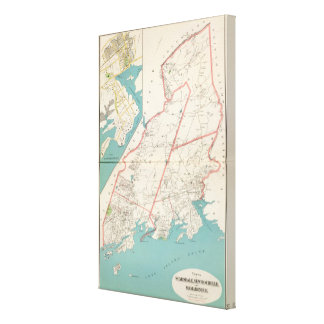 Scarsdale, New Rochelle, Mamaroneck towns Canvas Print