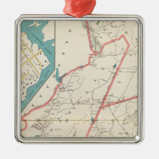 Scarsdale, New Rochelle, Mamaroneck towns Christmas Ornament