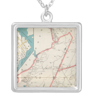 Scarsdale, New Rochelle, Mamaroneck towns Silver Plated Necklace
