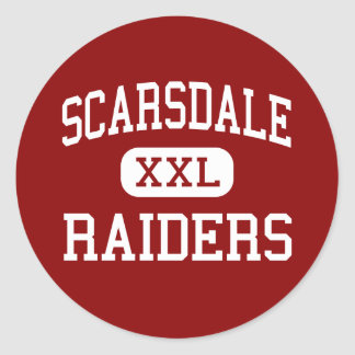 Scarsdale - Raiders - High - Scarsdale New York Classic Round Sticker