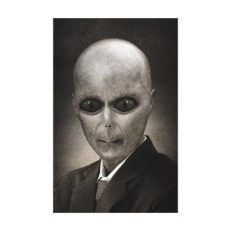 Scary alien portrait gallery wrapped canvas