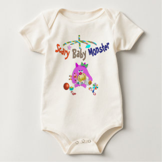 Scary baby monster baby bodysuit