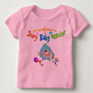 Scary baby monster baby tshirt