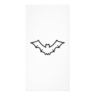 Scary bat personalized photo card