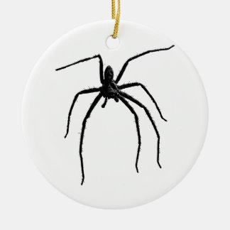 Scary big spider halloween round ceramic decoration