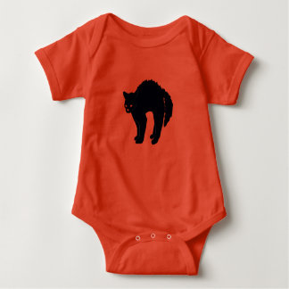Scary Black Cat Baby Bodysuit