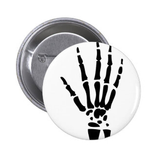 scary bone hand halloween 6 cm round badge