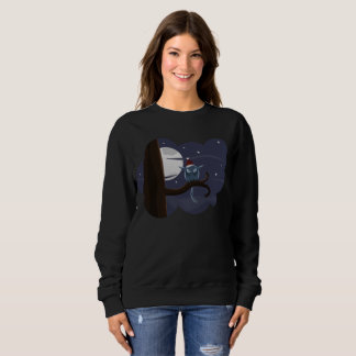 scary christmas owl womens sweatshirt