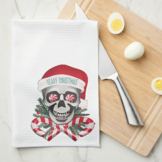 Scary Christmas Tea Towel