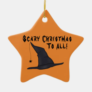 Scary Christmas Witch Hat Ornament