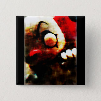 Scary Clown 15 Cm Square Badge