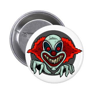 Scary Clown 6 Cm Round Badge