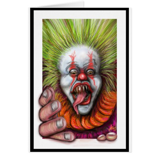 scary Clown Greeting Card