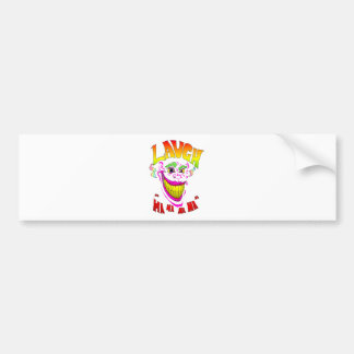 Scary Clown Laugh Car Bumper Sticker
