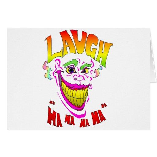 Scary Clown Laugh Card