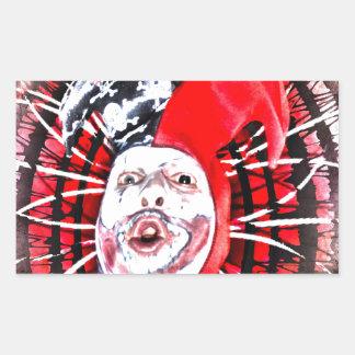 scary clown rectangular sticker