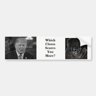 Scary Clowns Bumper Sticker