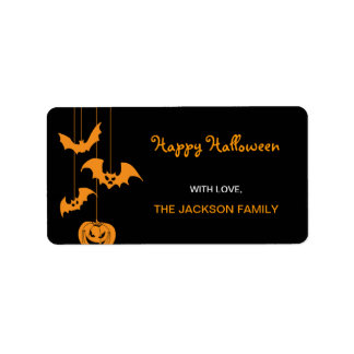 Scary Creatures Halloween Gift Labels