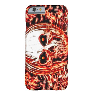 Scary Demon Pumpkin Ghoul Skull Fractal Art Barely There iPhone 6 Case
