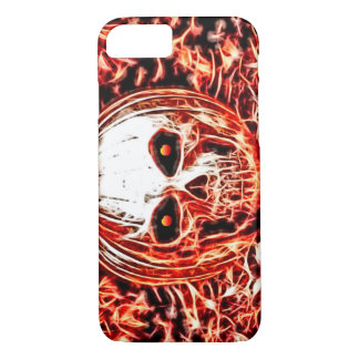 Scary Demon Pumpkin Ghoul Skull Fractal Art iPhone 7 Case